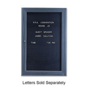 Quartet Single Glass Magnetic Message Board