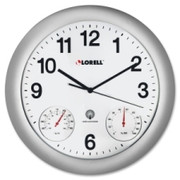 Lorell Analog Temperature/Humidity Wall Clock