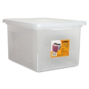 Lorell Letter/Legal Plastic File Box