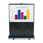 "Quartet Euro Manual Projection Screen - 80"" - 1:1 - Portable"