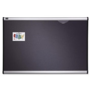 Quartet Prestige Plus Gray Diamond Mesh Bulletin Board