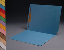 End Tab Colored File Folder - Blue