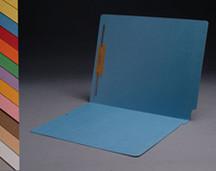 End Tab Colored File Folder - Blue