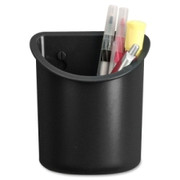 Lorell Recycled Plastic Mounting Pencil Cup