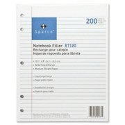 Sparco 5-hole Punched Wide Ruled Filler Paper