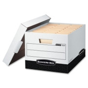 Bankers Box R-Kive - Letter/Legal, White/Black
