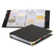 Cardinal Sewn Vinyl Business Card File Binder