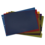 Cardinal Poly Divider with Adhesive Tabs
