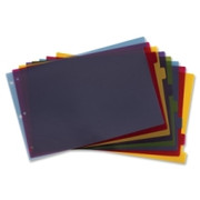 Cardinal Poly Divider with Adhesive Tabs - 1