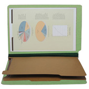 End Tab Pressboard Classification Folder - Pale Green 2