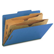 Top Tab Pressboard Classification Folder with Partition Pockets - Cobalt Blue