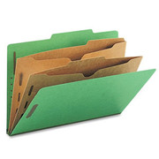 Top Tab Pressboard Classification Folder with Partition Pockets - Emerald Green - 1