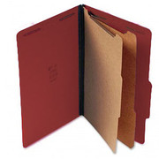Top Tab Pressboard Classification Folder - Red