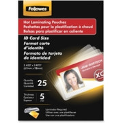 Fellowes Glossy Pouches - ID Tag not punched, 5 mil, 100 pack