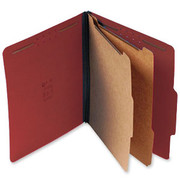 Top Tab Pressboard Classification Folder - Red - 3