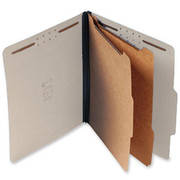 Top Tab Pressboard Classification Folder - Gray - 2