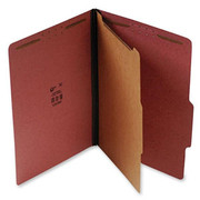 Top Tab Pressboard Classification Folder - Red - 4
