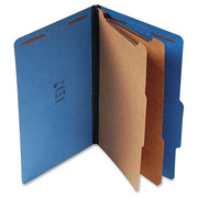 Top Tab Pressboard Classification Folder - Cobalt Blue - 1