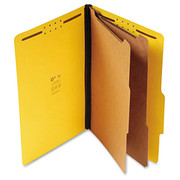 Top Tab Pressboard Classification Folder - Yellow - 1