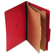 Top Tab Pressboard Classification Folder - Ruby Red