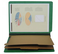 End Tab Pressboard Classification Folder - Emerald Green