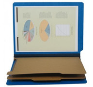 End Tab Pressboard Classification Folder - Cobalt Blue