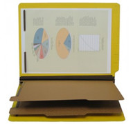 End Tab Pressboard Classification Folder - Yellow