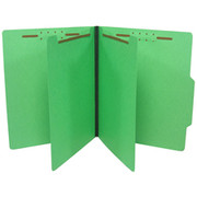 Top Tab Colored Classification Folder - Green
