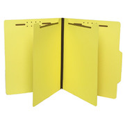 Top Tab Colored Classification Folder - Yellow