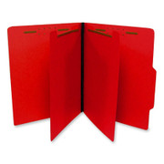 Top Tab Colored Classification Folder - Red