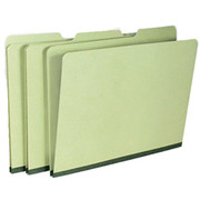 Top Tab Pressboard Folder - Green - 2