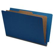 End Tab Pressboard Classification Folder - Cobalt Blue - 1