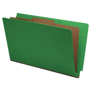 End Tab Pressboard Classification Folder - Emerald Green - 1