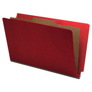End Tab Pressboard Classification Folder - Ruby Red - 1