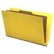 End Tab Pressboard Classification Folder - Yellow - 2