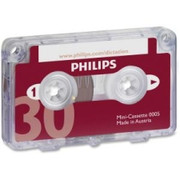 Philips Speech Dictation Minicassette With File Clip