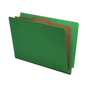 End Tab Pressboard Classification Folder - Emerald Green - 2