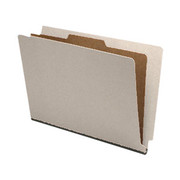 End Tab Pressboard Classification Folder - Gray - 3
