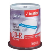 Imation CD Recordable Media - CD-R - 52x - 700 MB - 100 Pack Spindle - 2