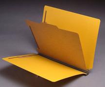 End Tab Pressboard Classification Folder - Yellow - 4