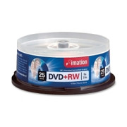 Imation DVD Rewritable Media - DVD+RW - 8x - 4.70 GB - 25 Pack Spindle