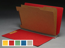 End Tab Pressboard Classification Folder - Cobalt Blue - 3