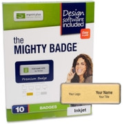 Imprint Plus Mighty Badge Gold Inkjet Name Badges