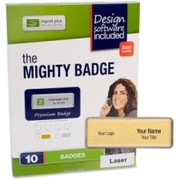 Imprint Plus Mighty Badge Gold Laser Name Badges
