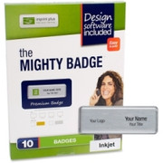 Imprint Plus Mighty Badge Silvr Inkjet Name Badges