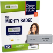 Imprint Plus Mighty Badge Silver Laser Name Badges