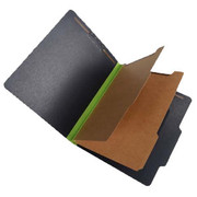 Fusion Series Pressboard Classification Folder - Green Gusset