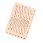 LegalSupply Tri-Fold Foreign Patent Application Folder with End Tab