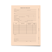 LegalSupply Tri-Fold Foreign Patent Application Folder - Salmon