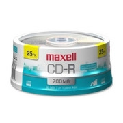 Maxell CD Recordable Media - CD-R - 48x - 700 MB - 25 Pack Spindle